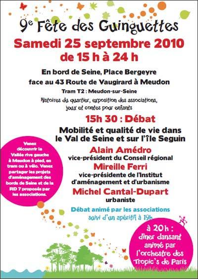 Invitation Fête des Guinguettes 2010