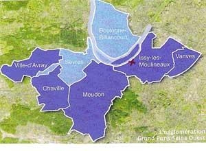 carte Grand Paris Seine Ouest
